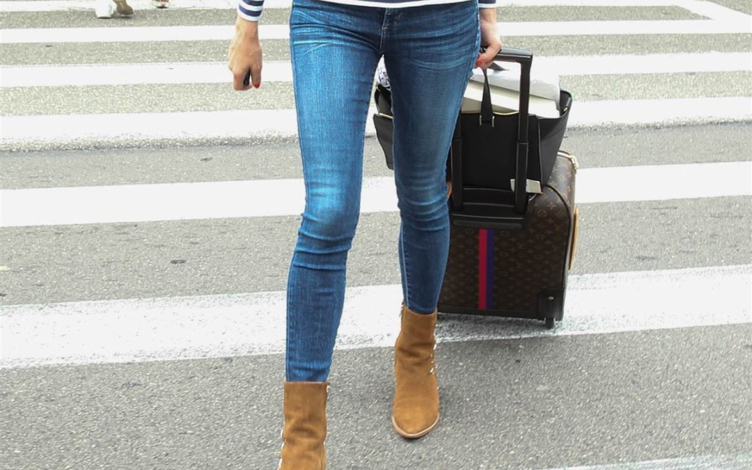 Spray on Jeans – also known as skinny jeans!