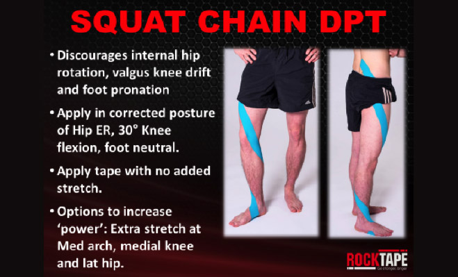 Spiral Squat Chain Taping